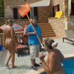 4er mit Bademeister und Hotelgast
