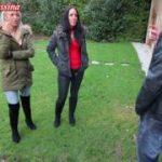 Public Blowjob während nebenan Familie feiert