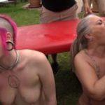 Perverser Spermatausch bei Outdoor Abspritz und BlowJob Orgie!