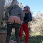 Und der nächste geile Public Double Piss mit Dirty-Tina!